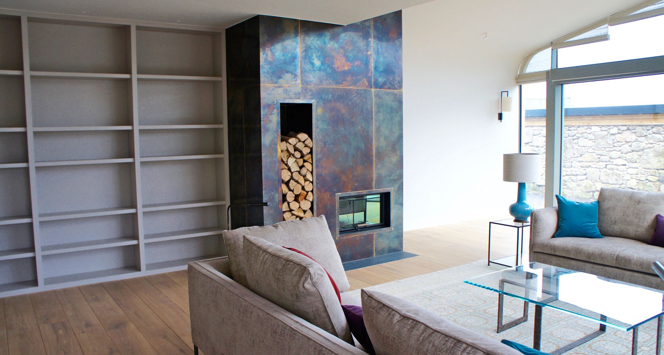 Bronze Fire Surround Devon with Lucy Elworthy Interiors