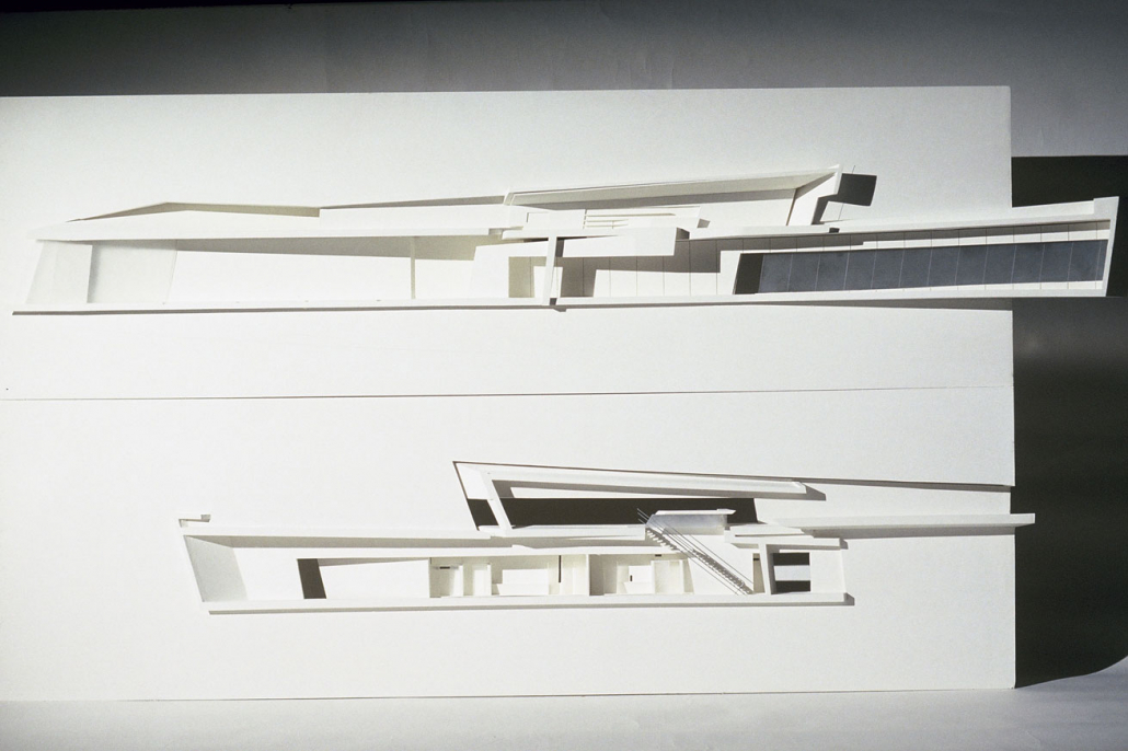 Comparelli Architect - Approach - Relief Model of Vitra Fire Station for Zaha