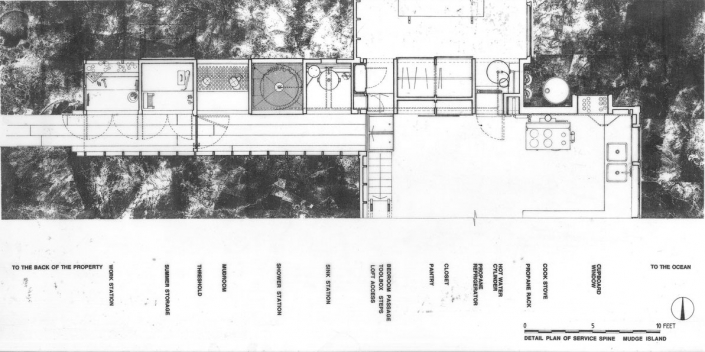 Comparelli Architect - Mudge Island British Columbia - Detail Plan