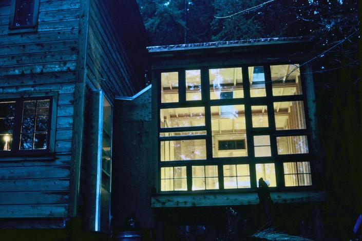 Comparelli Architect - Mudge Island British Columbia - Windows Evening